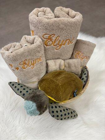 Coffret ensemble serviette éponge et peluche