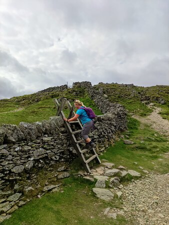 only 2 styes/ladders of the whole walk were here, near the top