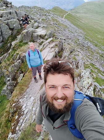 Striding Edge - even more of a scary scramble than I'd imagined!