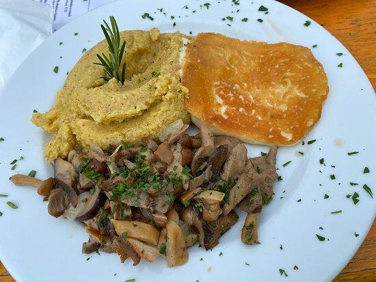 polenta e formaggio + funghi