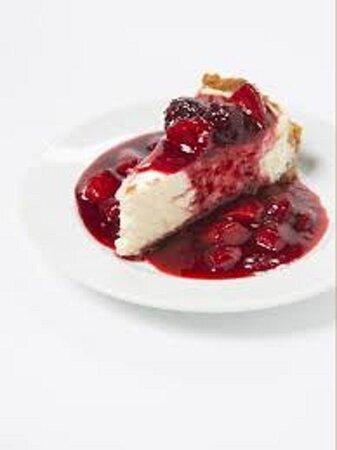 torta cheesecake com frutas vermelhas
