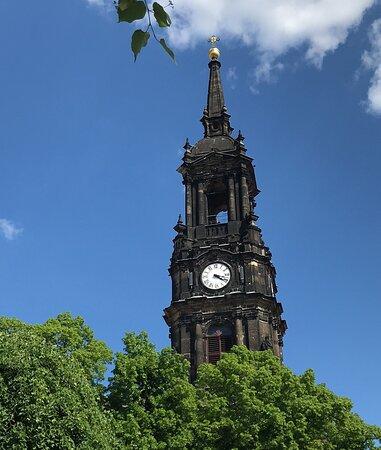 Turm der Dreikönigskirche - vyhliadková veža - Aussichtplattform