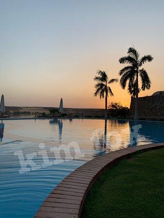 أبو سمبل, مصر: Sunset at Seti Abu Simbel Hotel; June 2021.