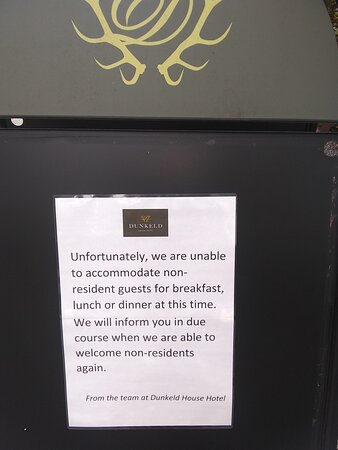 Sign at front door saying only guests for meals. I went with my wife and daughter for a coffee at outdoor seating area and denied service by waitress as we were not guests of hotel. Staycation?, it's a joke.