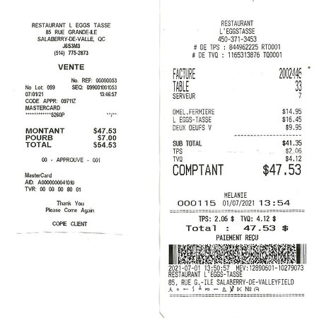 1er juillet 2021 / $47.53 avec taxes par Mélanie