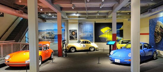 Special exhibit of some of the 60 Porsches of architect Steven Harris.