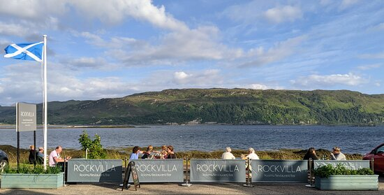Rockvilla Restaurant - Outside dining with panoramic views of Loch Carron & the Cuilins of Skye