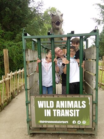 lol we had so much fun and had to get caged