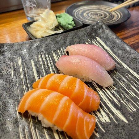 Salmon and Yellow Tail Nigiri