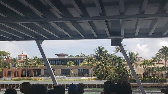 Miami Millionaire's Row Cruise: View of Gloria and Emelio Estefan's compound with studio