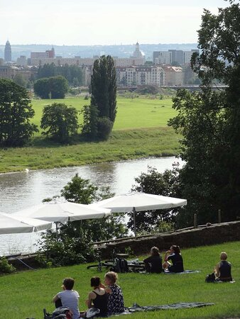Dresden View from Albrechtsberg Castle