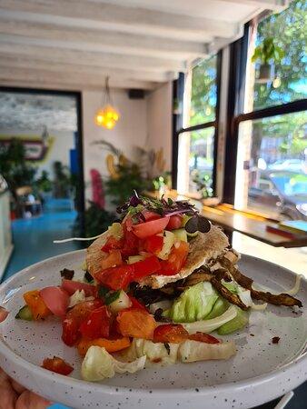 Pita ostra, met Haagse oesterzwammen