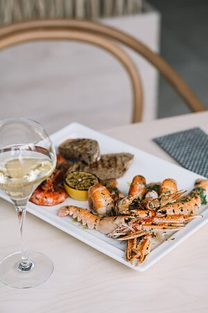 Chef's signature starter - argentinian prawns, freshwater shrimps, langoustines