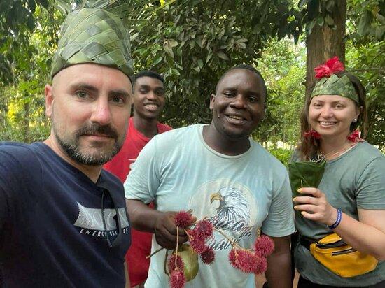 Taste unique fruit in Zanzibar