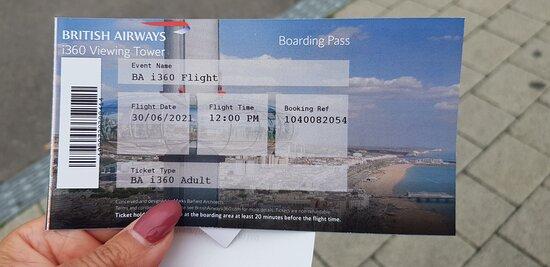 British Airways i360 Viewing Tower - Flight: Boarding pass!