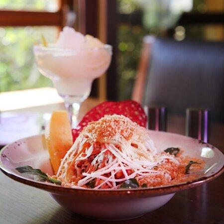 Our Mango Crab Salad! as salad as a rock.  #MISTmenu #MISTJo #Lunchhour #Restaurant