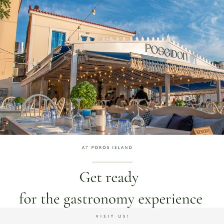 Poseidon Restaurant: Based in Poros, cozy ambience combined with unique sea view and the inspired menu have contributed to Poseidon's success! Thank you for choosing us!