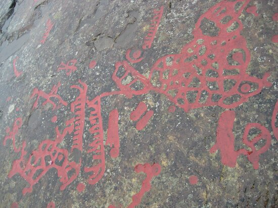Gotene, Suécia: Famous Flyhov rock carvings (Götene-Husaby)