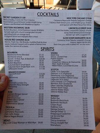 more booze choices!