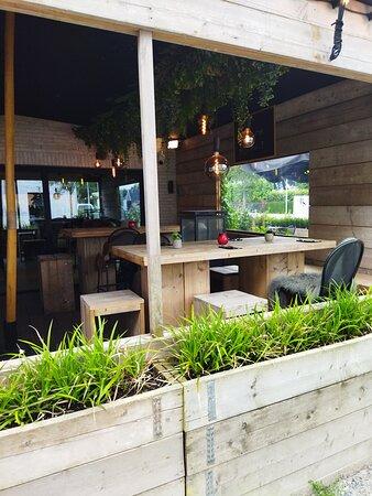 Cozy seating, indoor and outdoor