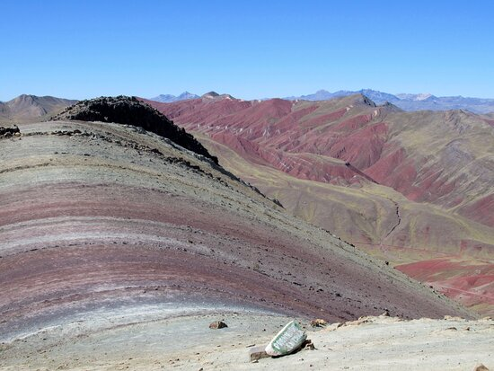 1 of 3 of the rainbow mountains in the Palccoyo area (two of these are visible from this location)