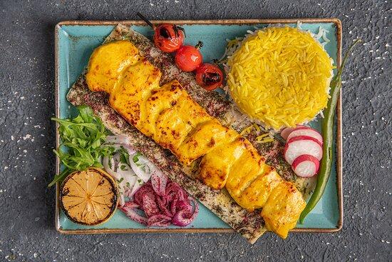 Joojeh Kebab Bedoone Ostakhan (Chicken)