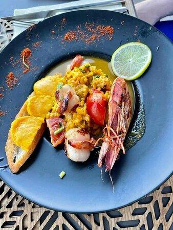 Le fameux Risotto aux fruits de mer façon bouillabaisse
