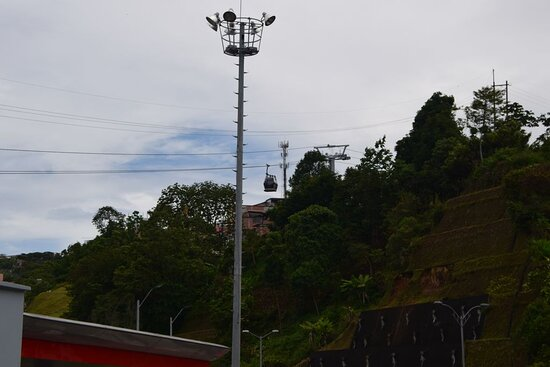 Manizales, Kolombia: Канатная дорога.