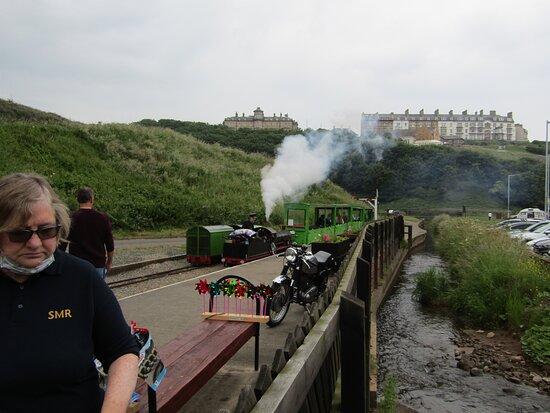The miniature railway at Saltburn