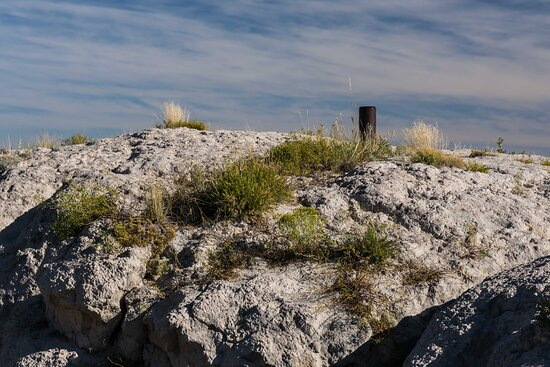 Soft Stone of Bluff Rapidly Eroding