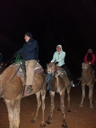 Merzouga luxury camp desert: Early morning we mount camels to see sunraise