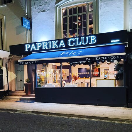 Our newly refurbished shop front.   Paprika Club.