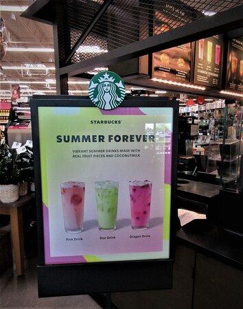 Hy-Vee: Starbucks kiosk. July 2021