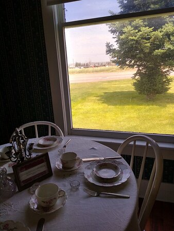 View onto the prairie from inside the boarding house