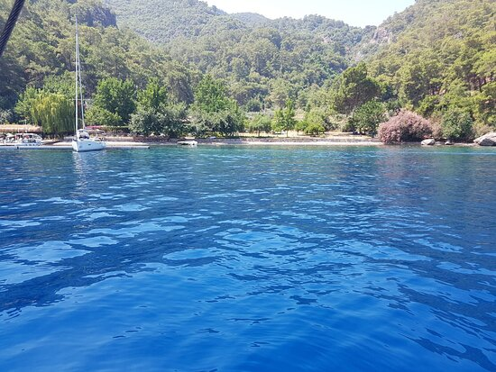 We travelled to several bays each one having crystal blue waters and great snorkelling, I never knew Turkish waters were so beautiful.