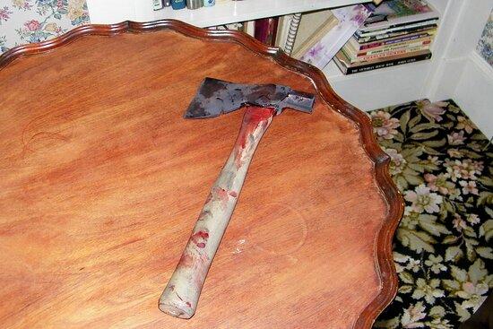 Lizzie Borden House Tour: replica of weapon