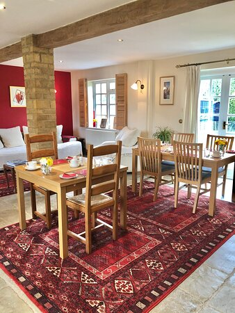 Welcoming breakfast room.  Have a leisurely breakfast and watch the world go by.
