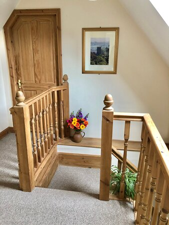 Bedrooms are on the first floor up one flight of stairs.
