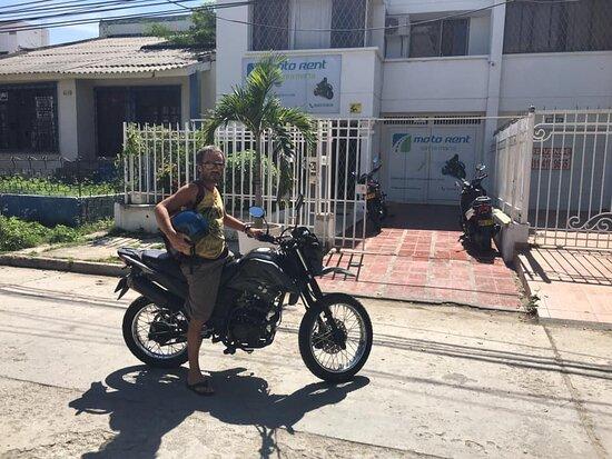 Preparado para partir!!  Motorent Santa Marta, las mejores motos del Caribe.