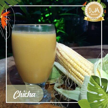 Chicha de Anita: bebida fermentada de maíz y panela tradicional de los indígenas Muiscas.
