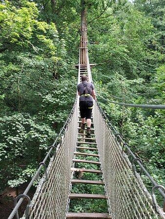 Rope Bridge at Go Ape - Coventry (02/Jul/21).