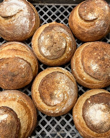 White sourdough baked fresh daily. Available as a full loaf (miche) or half. All Le Quartier bread is made without preservatives, so make sure to use or freeze within 3 days.