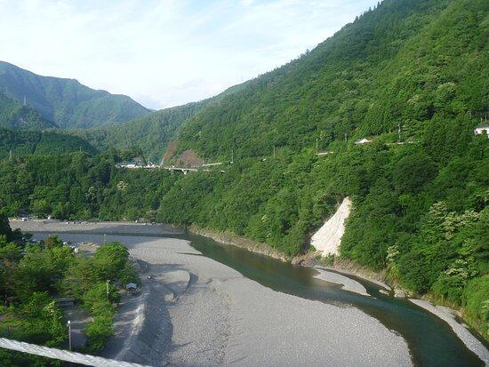 「谷瀬の吊橋」からの眺望