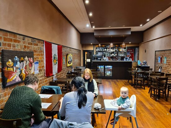 Inti Gourmet is a spacious restaurant with lots of Peruvian touches