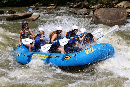 So much fun! We did the middle tour. It was safe and relaxing most of the time. The couple big rapids that we passed were not too crazy. This was our first time and we had a blast! We are ready for the upper class now