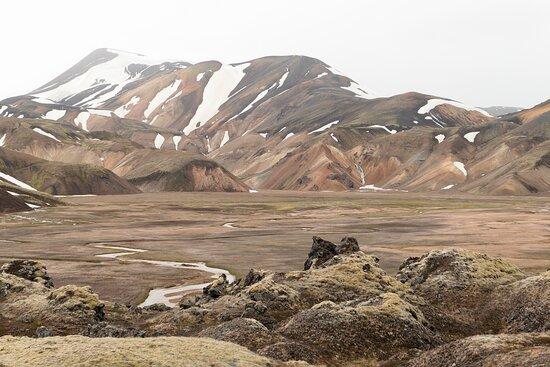 View from Laugahraun lava field