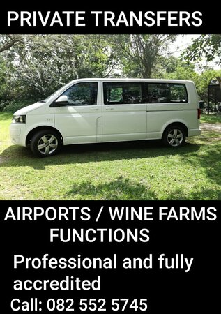 Shuttles from Hermanus to airports, functions and events anywhere from Cape Town - Garden Route - Port Elizabeth.