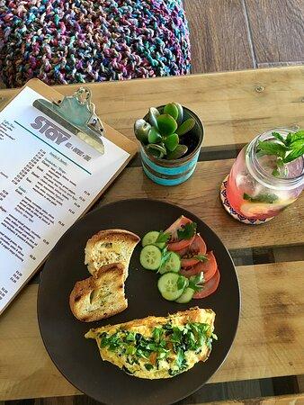 breakfast omelette with feta cheese
