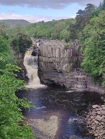 There is a great view point of High Force just beforehand, which offered us a spectacular first sight of High Force