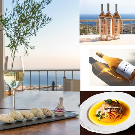 Fine wines, delicious dishes and a fantastic sea view